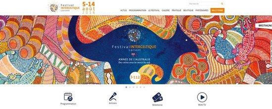 Régie web pour le Festival Interceltique de Lorient