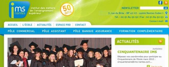 Réalisation du site web de l'IMS Nantes