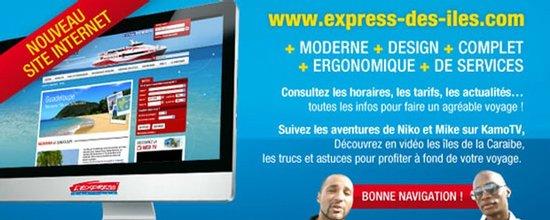 Refonte du site Internet de l'Express des Îles