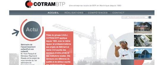 Réalisation du site Cotram BTP