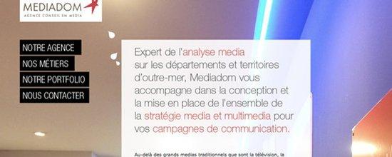 R�alisation du site Internet de l'agence Mediadom
