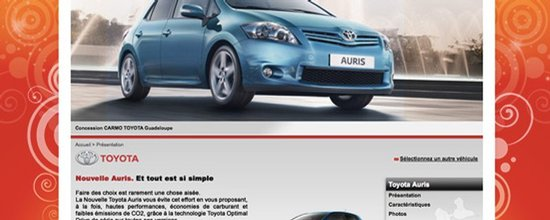 �volutions du site de Toyota CARMO