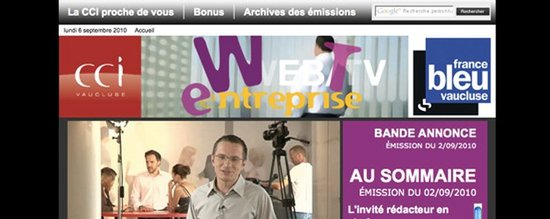 WTE 84, la webTV de la CCI de Vaucluse