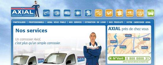 Réalisation du site Internet des carrosseries Axial
