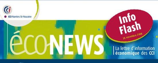 Envoi d'un e-mailing Econews, la lettre d'information économique des CCI