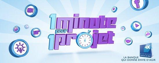 Identité visuelle pour le concours 1 minute pour 1 projet