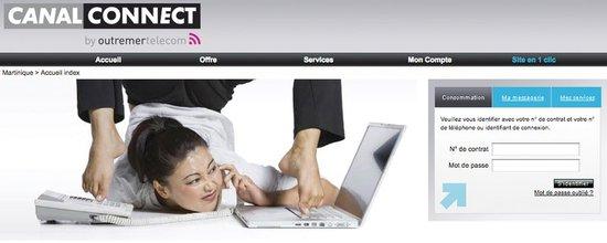 Site de présentation et de souscription à CanalConnect, l'offre Internet de Canal+ dans les DOM-TOM