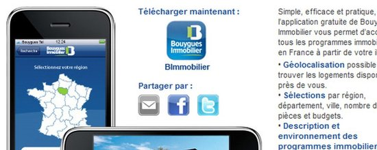 Pr�sentation de l'appli iPhone de Bouygues Immobilier
