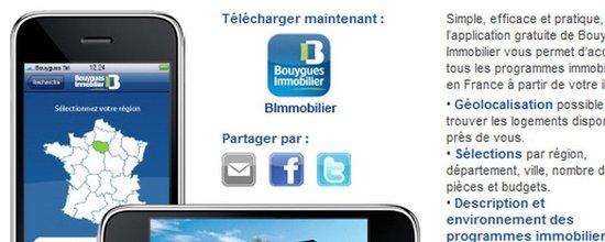 Présentation de l'appli iPhone de Bouygues Immobilier
