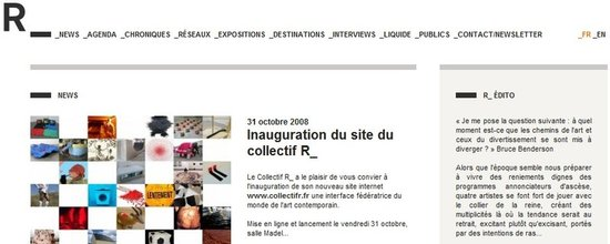 Cr�ation du site web du collectif R_