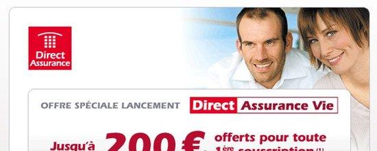 Campagne de lancement de Direct Assurance Vie