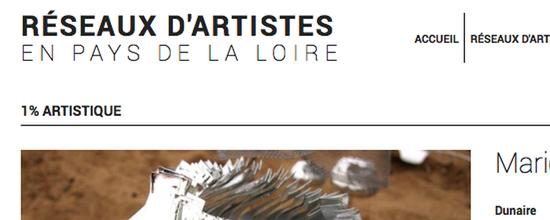 Un site pour les artistes en Pays de la Loire