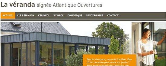 Un site web : La véranda par Atlantique Ouvertures