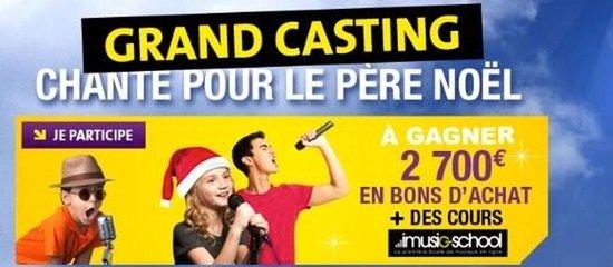 Site et emailing Casting de Noël