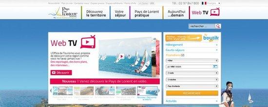 Cr�ation graphique du site de l'office de tourisme du Pays de Lorient
