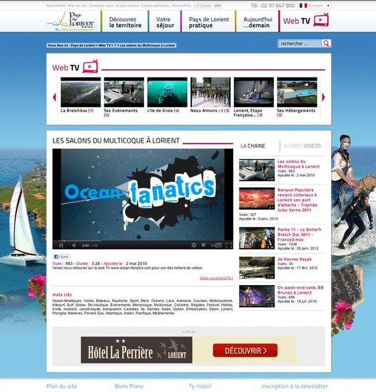 Cyan a nantes cr ation graphique du site de l 39 office - Office du tourisme de nantes telephone ...
