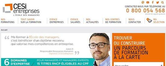 Evolution du site CESI Entreprises