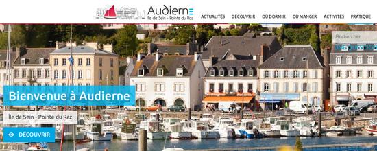 Développement du site de l'Office de Tourisme d'Audierne