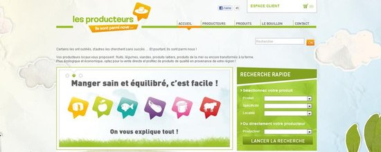 Site d'achat direct au producteur