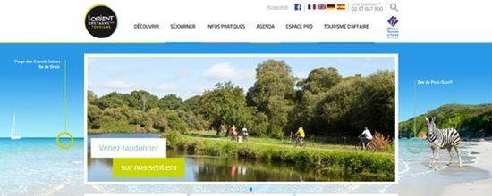Refonte de la page d'accueil du site de l'Office de tourisme de Lorient