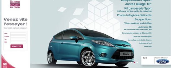 Landing Page Ford