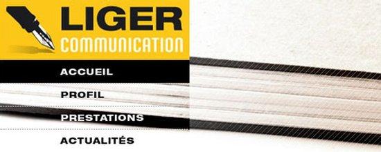 Réalisation du site de Liger communication