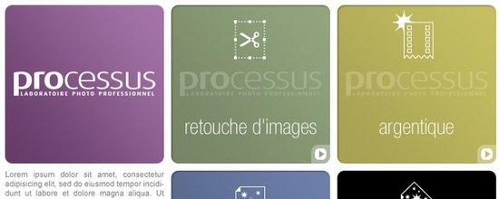 Réalisation du site et de la galerie en ligne du labo Processus