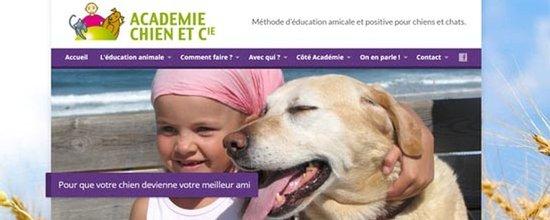 Un site web pour l'Académie Chien & Cie