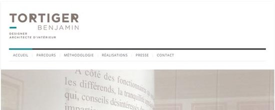 Un site web pour Benjamin Tortiger
