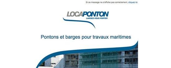 Réalisation d'emailing pour Locaponton