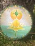 7...Peinture acrylique sur Tambour
