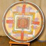 8...Peinture acrylique sur Tambour