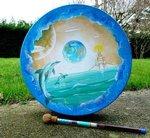 9...Peinture acrylique sur Tambour