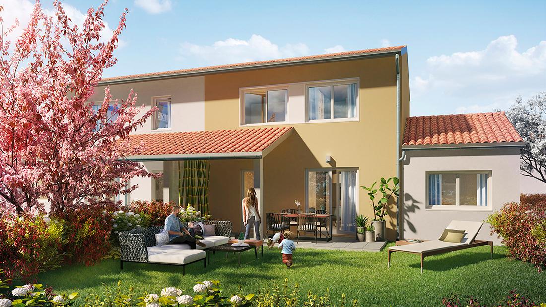 LA SALVETAT-SAINT-GILLES (31) : Des villas avec jardin.