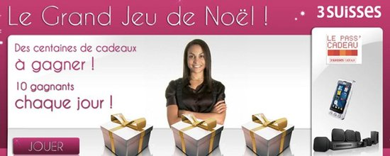 Grand Jeu de Noël only et 3suisses.fr