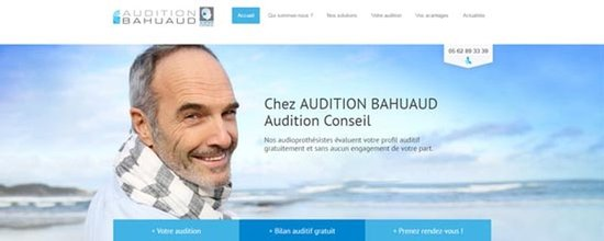 Un site web pour Audition Bahuaud