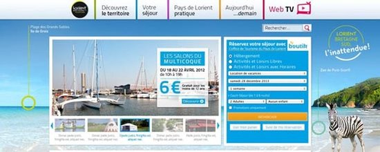 Habillages du site de l'Office de Tourisme
