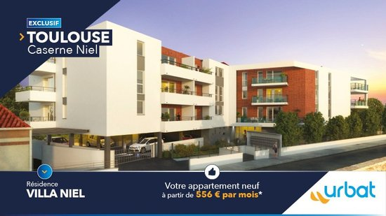 31 - TOULOUSE : votre appartement entre la Garonne et St Agne à partir de 556 euros par mois*